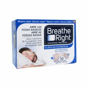 breathe right tiras nasais grandes x 30