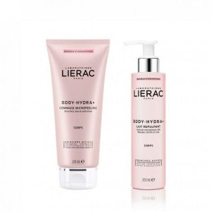 lierac pack body hydra gommage micropeeling 200ml leite preenchedor 200ml