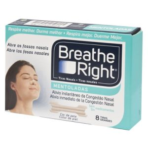 breathe right tiras nasais mentoladas 8 tiras